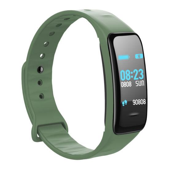 C1 IP68 Waterproof C1 Plus Heart Rate Monitor Pedometer Calorie Sport Smart Watch