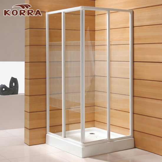 China Aluminum Profiles Tempered Glass Shower Door with Two Sliding ...