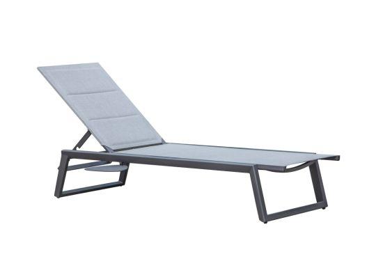 Wholesaler Modern Furniture Leisure Patio Aluminum Rope Outdoor Lounger