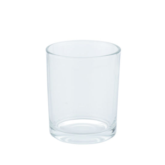 Wholesale Luxury Empty Soy Wax Transparent Candle Holder Glass Candle Jar