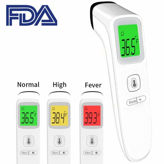 Stock Ce Approved Factory Digital LCD Display Clinical Baby Infrared Thermometer Forehead with Fever Alarm for Baby Child Adult