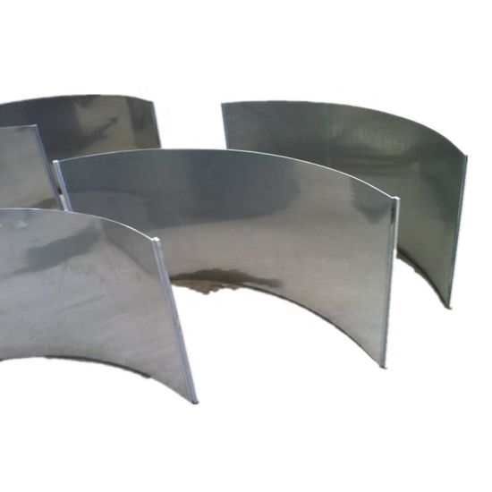 0.2mm 0.5mm 0.7mm 1mm Gap Welded Wedge Wire Screen Johnson Well Pipe Bar Screens Wedge Wire Filter Sieve Bend Screen