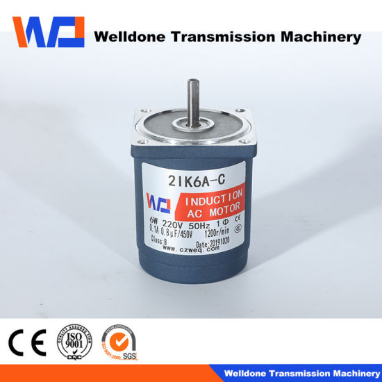 Round Mounting Flange Spur Single Phase Right Angle AC Brake Gear Motor Low Temperature Rise, Long Life