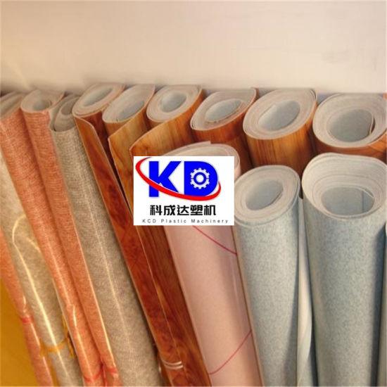 PVC Artificial Leather PVC Floor Leather Making Machine Three Rolls Calender Machine Line