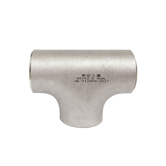 304 904L 316L Straight Tee Dairy Pipe Fittings Stainless Steel