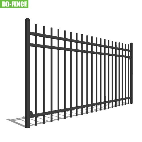 ISO 9001 Certified Galvanized Steel Fence Tubular Picket Fence for Industrial Commercial Residential