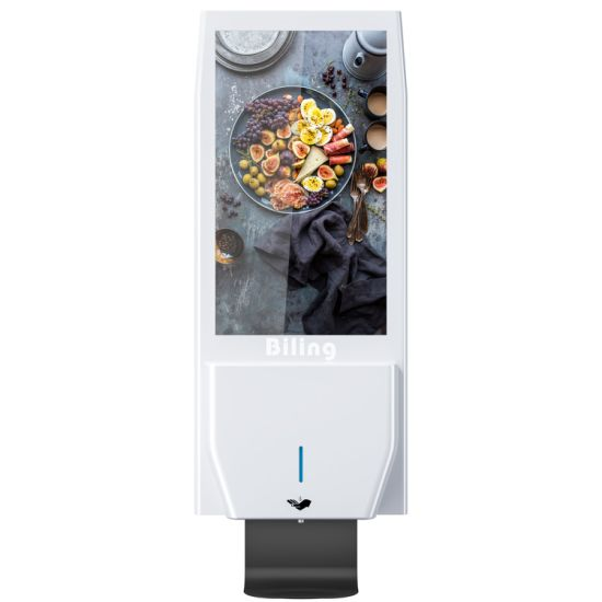 Factory Supply Android Advertising Equipment Digital Signage Sanitizer with Auto Hand Sanitizing Dispenser