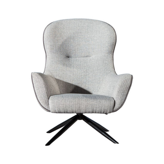 High Back Swivel Chair Modern Living Room Furniture Rotary Chair with Ottoman