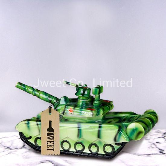 OEM Tank Shape Screen Printing 700ml Brandy Ceramic Bottle