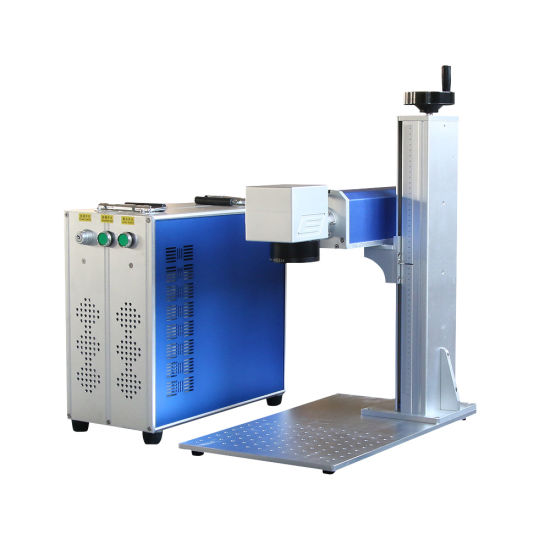 OEM/ODM Factory Split Desk Portable Type 30W 60W Mini Fiber Laser Marking Printing Machine CNC Engraving Machines