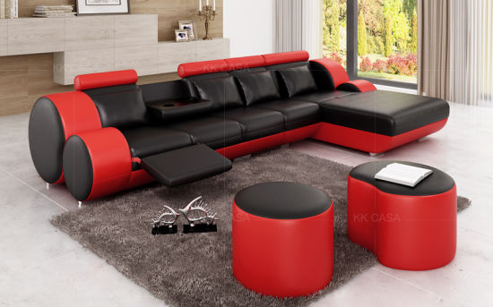 Miraculous Italian Leather U Shape Corner Sofa Modern Furniture Luxury White Caraccident5 Cool Chair Designs And Ideas Caraccident5Info