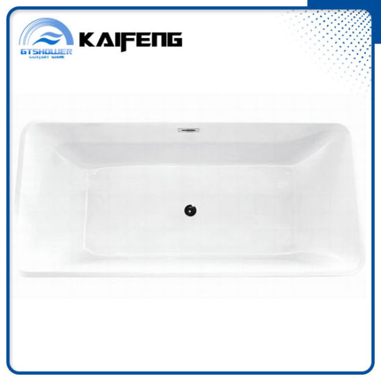 67 Inch Rectangle acrylic Standalone Bathtub (KF-766BC) pictures & photos