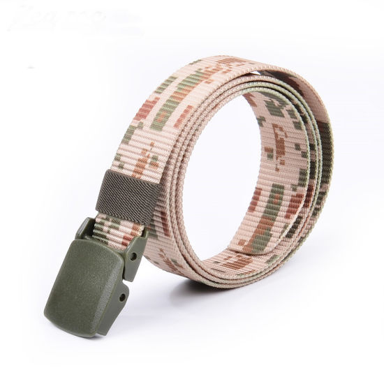 Travel Camouflage Printing Web Nylon Buckle Outdoor Military Belt (RS17002C)