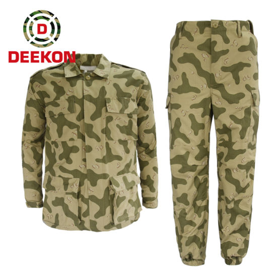 Kuwait 4 Color Amoebatarn Camouflage Military Bdu Uniform