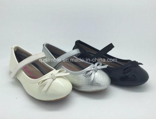 Fashion Snake Skin PU Kids Flat Heel Dress Shoes 16098