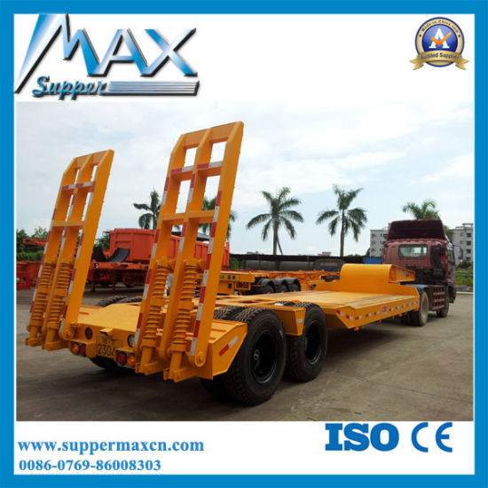 80 Tons Semi Trailer Expert 2/ 3/ 4 Axles Low Bed Trailer pictures & photos