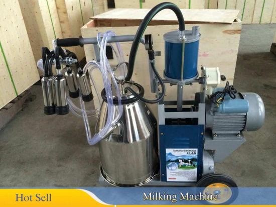 Farm L80 Pneumatic Pulsator 25L 304 Milker Bucket Tank Milking Barrel Machine CE