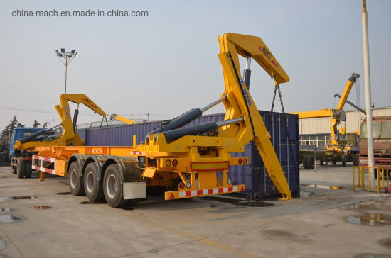 Container Semi Trailer with Side Lifter Crane pictures & photos