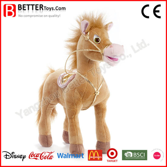 China New Design Stuffed Animal Soft Toy Standing Horse Plush For