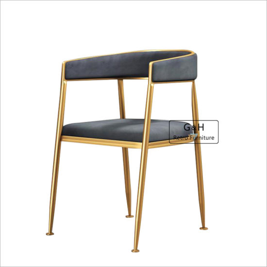Padded and Comfortable Cushion Stainless Steel Carmeno Velvet Dining Chair