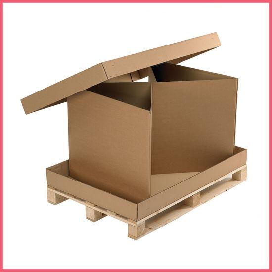 Extra Large Corrugated Cardboard Pallet Carton Box Shipping Moving Packaging Carton Box Accept Custom Logo Printing