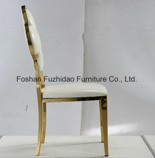 Royal Style Gold Stainless Steel Dubai Banquet Chair for Hotel pictures & photos