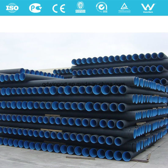 HDPE Double Wall Corrugated Sewage Pipe pictures & photos