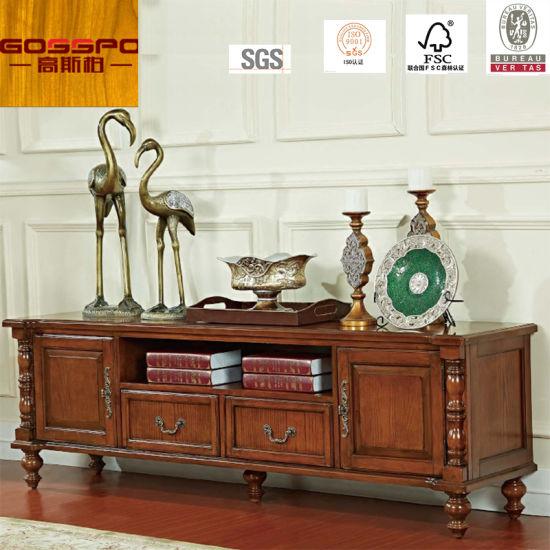 Fancy Design Teak Wood Tv Stand Tv Cabinet Gsp13 007