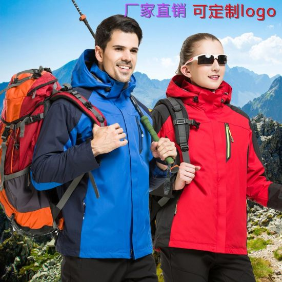 Windproof Breathable Warm Waterproof Polyester Outdoor Jacket for Winter