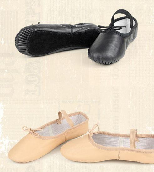 Pig Skin Upper Full Sole Ballet Shoe