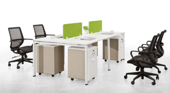 Face to Face Office Desk in Melamine MDF pictures & photos