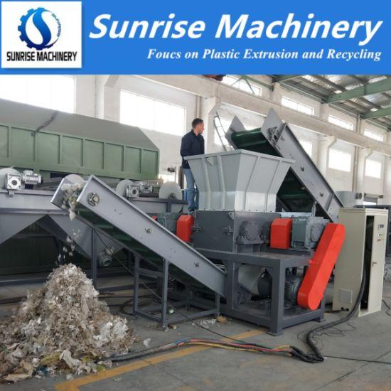 Double Shaft Plastic Shredder Machine for Plastic Film Drum Barrel