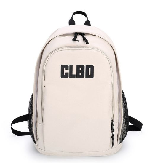 2020 New Fashion Fashion Versatile Neutral Junior and Senior High School College Students Backpack Pure Color Outdoor Canvas Backpack