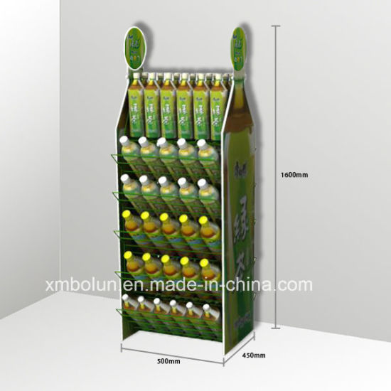 China Custom Made 40 Tiers Mineral Water Bottle Stand Water Bottle Custom Product Displays Stands