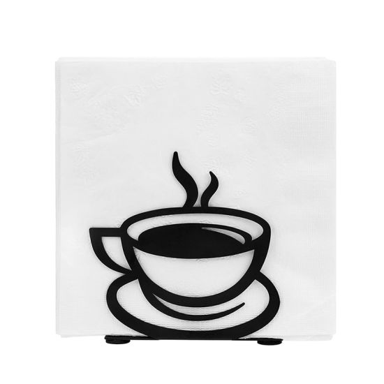Customized Metal Promotion Gift Coffee Cup Shaped Napkin Holder