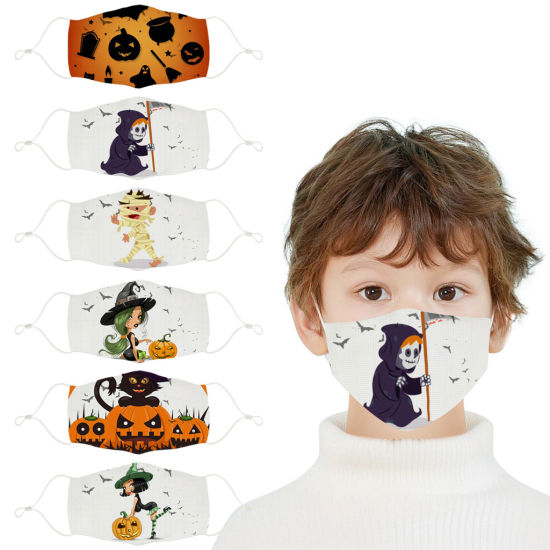 Children's Kid's Dinosaurs Prints Washable Mask Strap Lanyard Mask Kid Face Masks Masque Facemask