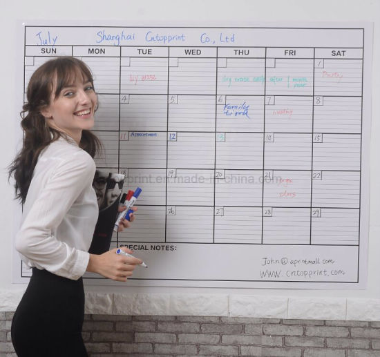 China Custom Large Whiteboard Calendar Printing China Calendar