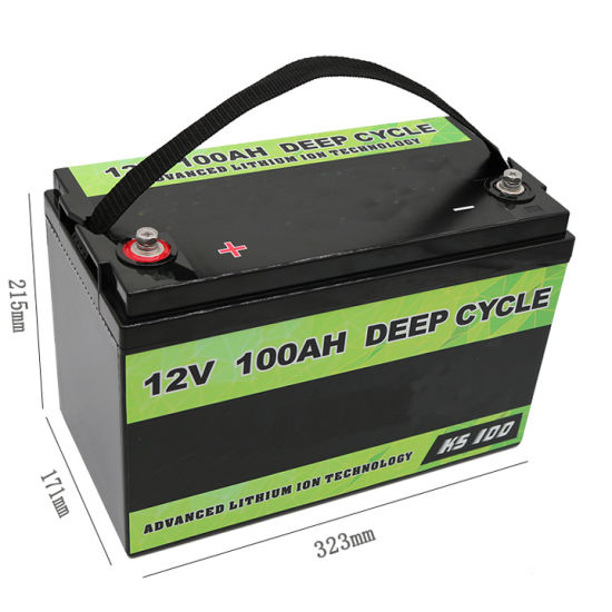 Cts Rechargeable 12V 100ah Lithium LiFePO4 Battery for Solar Storage