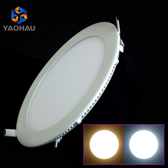 3W to 25W China Flat Square Round Ultra Slim Ceiling LED Panel Light Factory 6W 12W 18W LED Panel Lamp Price pictures & photos