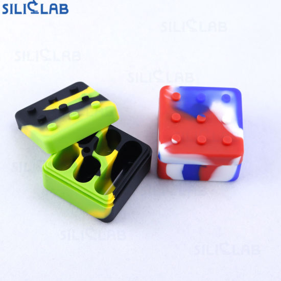 4+1silicone DAB Oil Jar Small Bho Wax Container Tobacco Containers