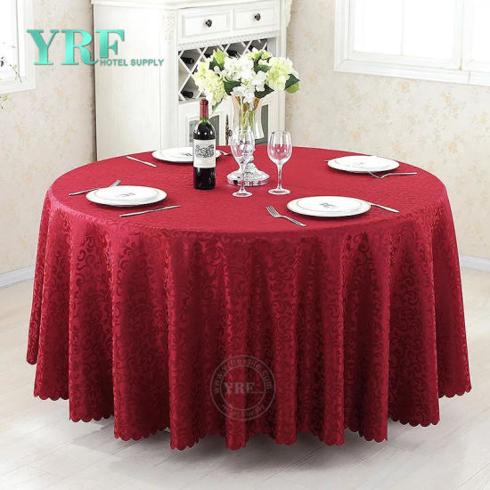 China 90 Inch Round Table Cloths Purple
