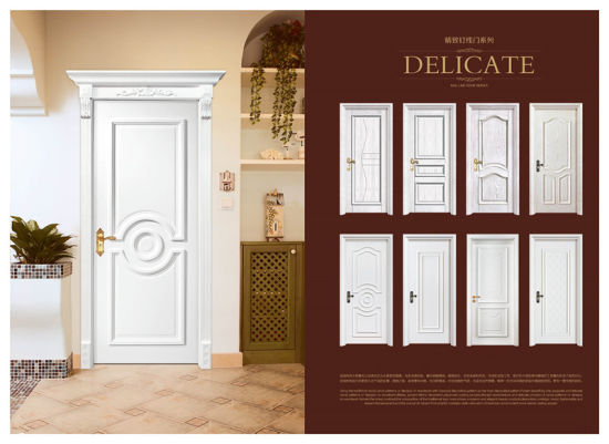 Custom Apartment Environmental Exterior Entry Wooden Door Solid Wood Modern Front  Doors