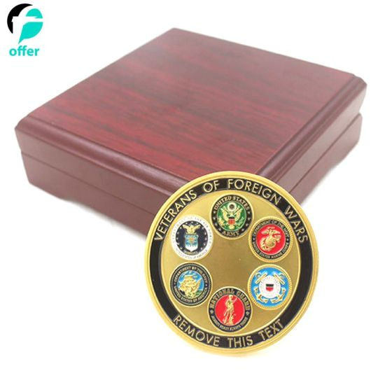Challenge Coin with Wood Display Box pictures & photos