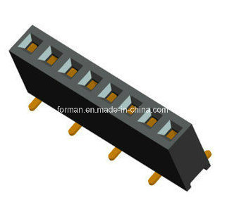 2.54mm Pitch PCB Female Header SMT Type Single Row Series