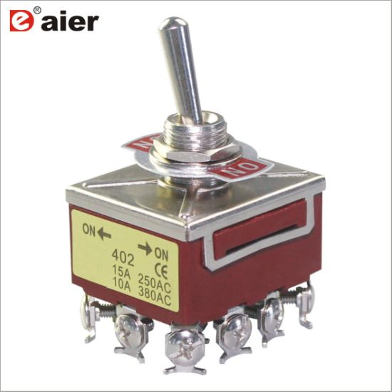 China Automotive 15A 12 Pin 4 Pole on-on Large Toggle Switch - China ...