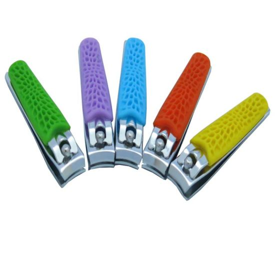 Colorful Silicone Handle for Promotional Gift Nail Clippers for Finger (608R-2) pictures & photos