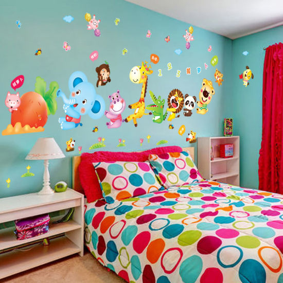 PVC Cartoon Wall Sticker Kids Room Nursery School