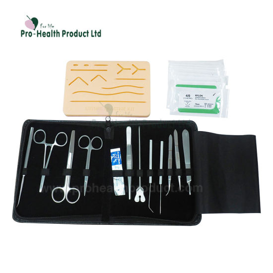 5f9b0bb749 Medical Students Training Skin Suture Set Tool Practice Kit pictures &  photos