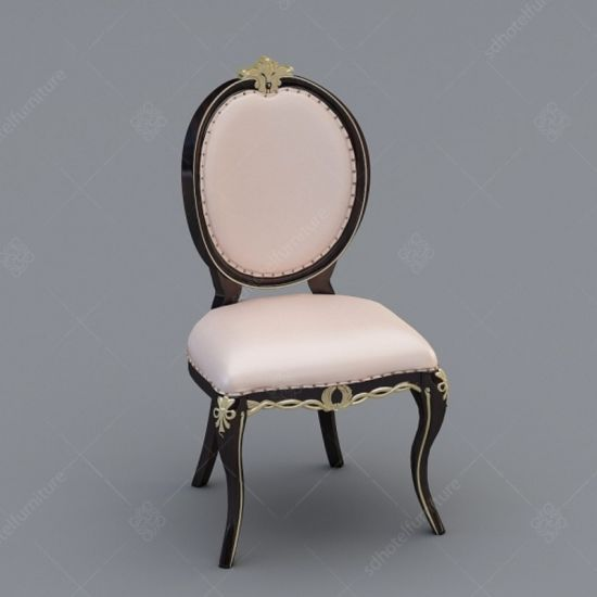 Restaurant Furniture European Style Dining Chair with Solid Wood Legs