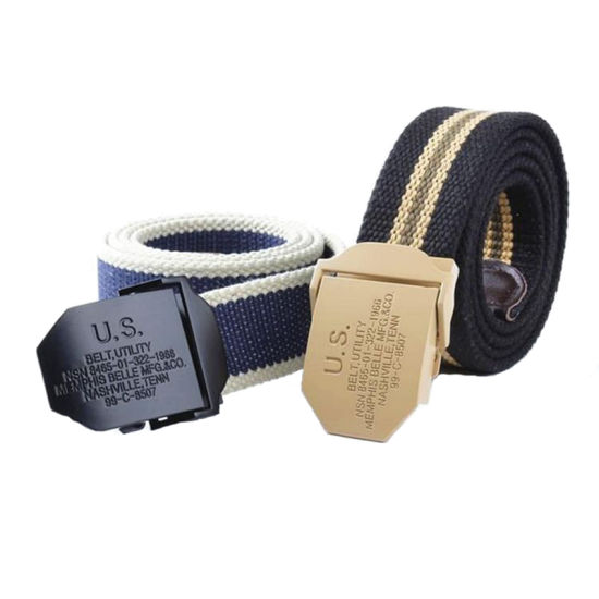 Alloy Buckle Canvas Tactical Belt, Pressing Automatic Buckle Canvas Belt pictures & photos